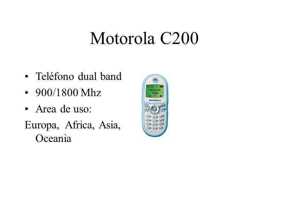 Motorola C200 Teléfono dual band 900/1800 Mhz Area de uso: Europa, Africa, Asia, Oceania