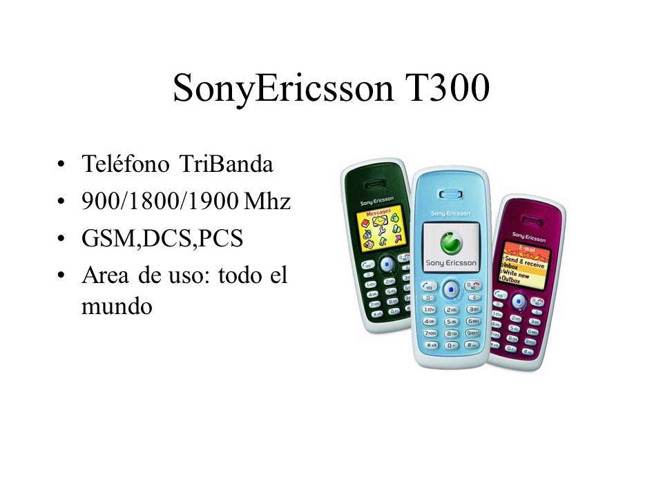 SonyEricsson T300 Teléfono TriBanda 900/1800/1900 Mhz GSM,DCS,PCS Area de uso: todo el mundo