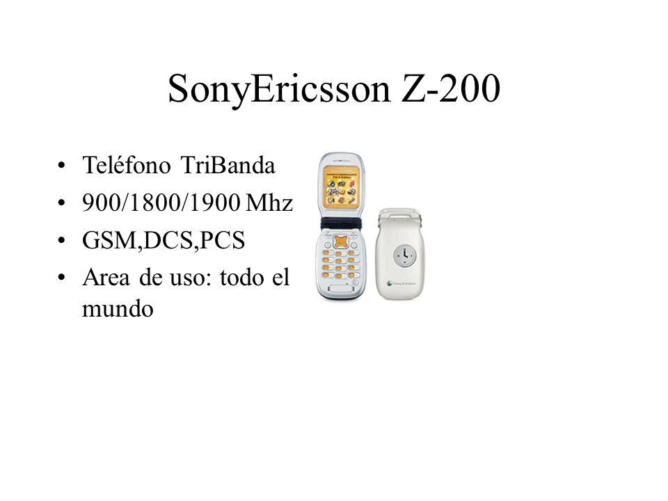 SonyEricsson Z-200 Teléfono TriBanda 900/1800/1900 Mhz GSM,DCS,PCS Area de uso: todo el mundo