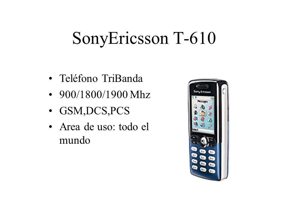 SonyEricsson T-610 Teléfono TriBanda 900/1800/1900 Mhz GSM,DCS,PCS Area de uso: todo el mundo