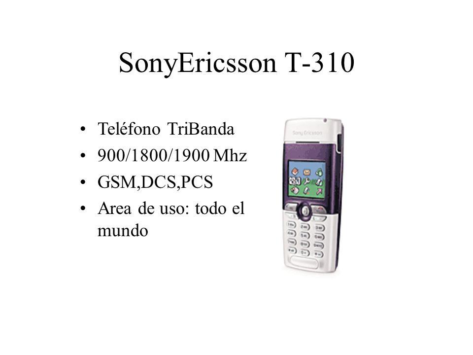 SonyEricsson T-310 Teléfono TriBanda 900/1800/1900 Mhz GSM,DCS,PCS Area de uso: todo el mundo