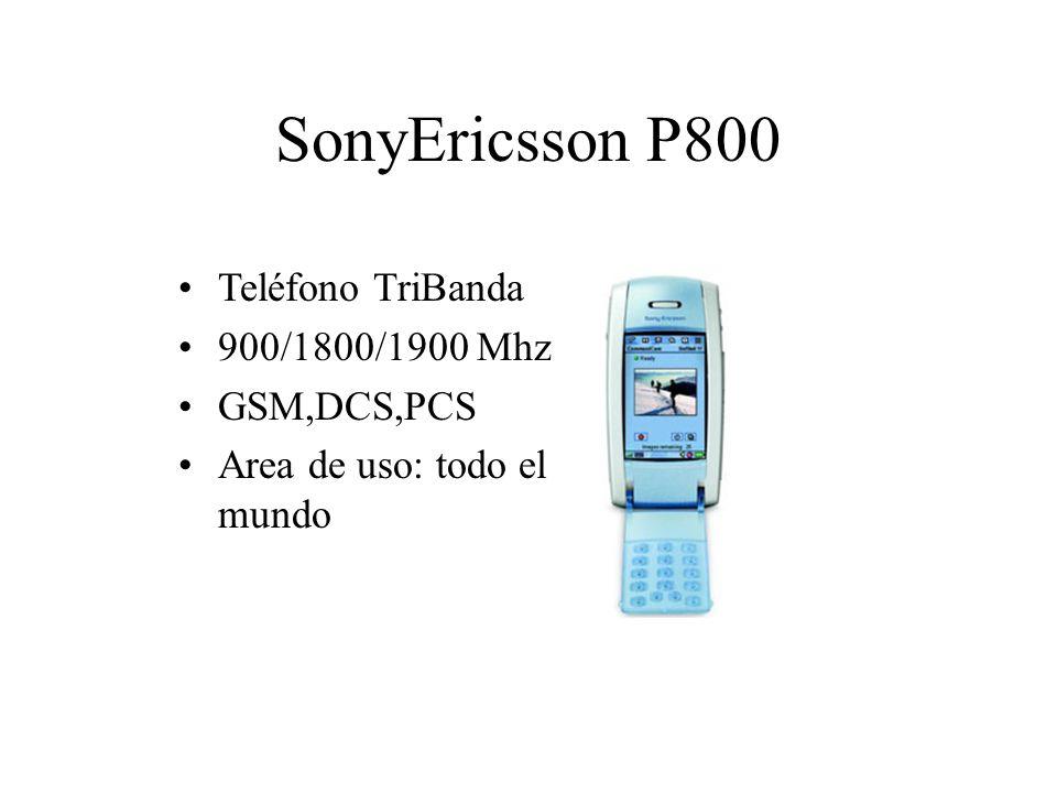 SonyEricsson P800 Teléfono TriBanda 900/1800/1900 Mhz GSM,DCS,PCS Area de uso: todo el mundo