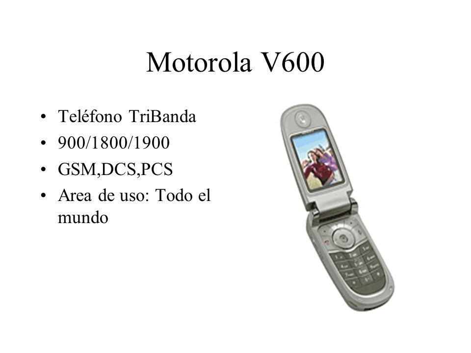 Motorola V600 Teléfono TriBanda 900/1800/1900 GSM,DCS,PCS Area de uso: Todo el mundo