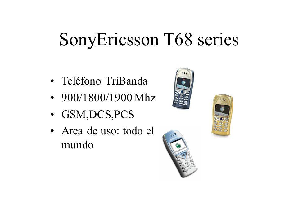 SonyEricsson T68 series Teléfono TriBanda 900/1800/1900 Mhz GSM,DCS,PCS Area de uso: todo el mundo