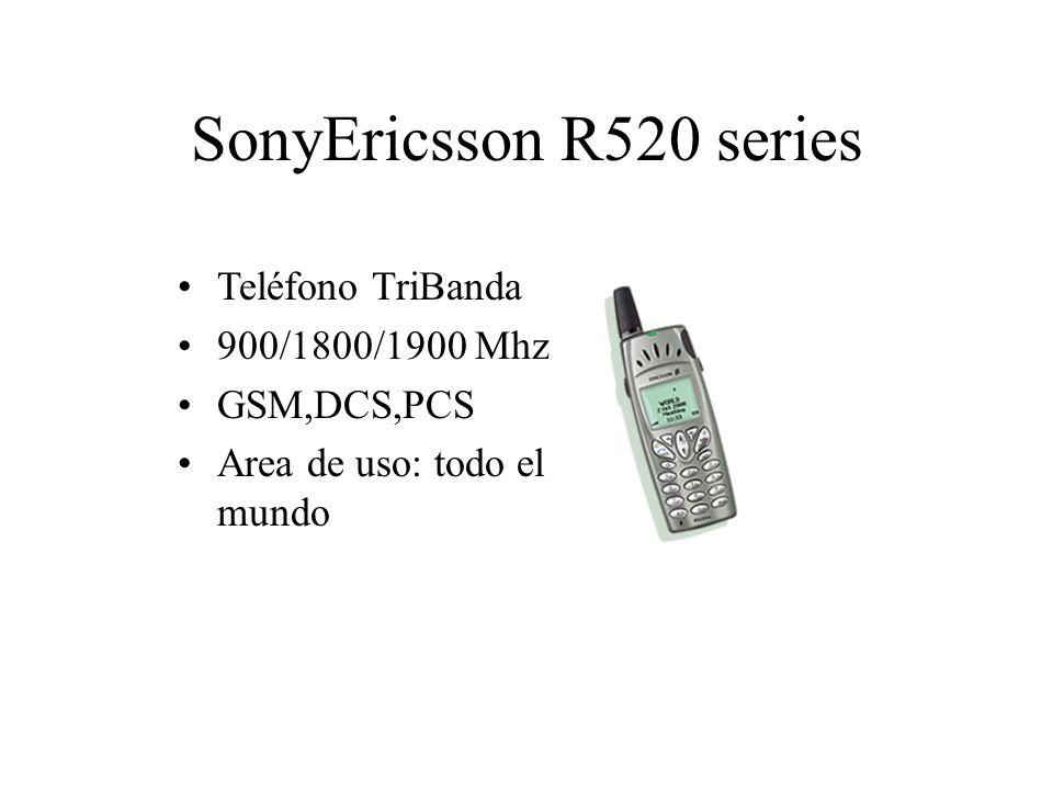 SonyEricsson R520 series Teléfono TriBanda 900/1800/1900 Mhz GSM,DCS,PCS Area de uso: todo el mundo