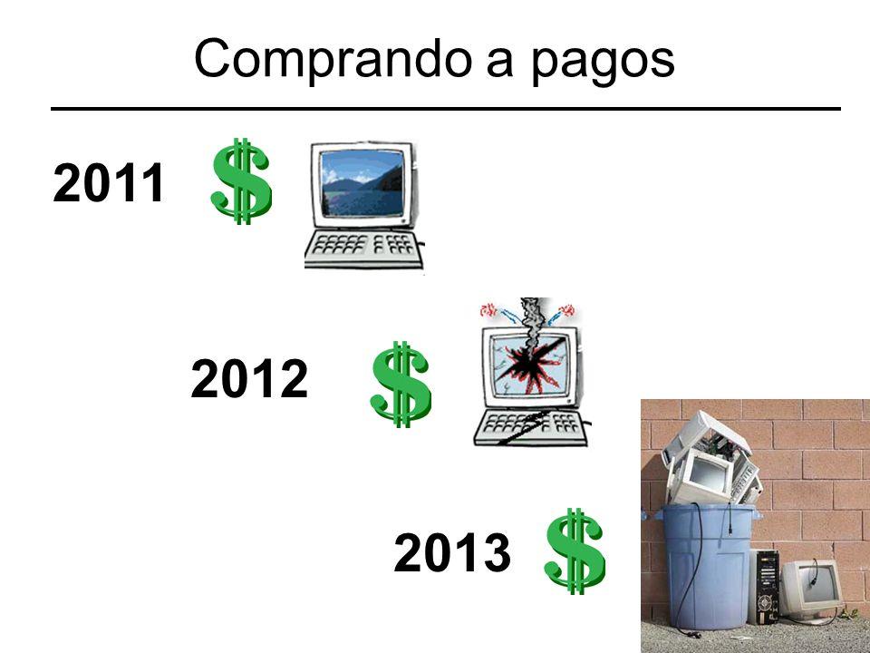 Comprando a pagos 2011 2012 2013
