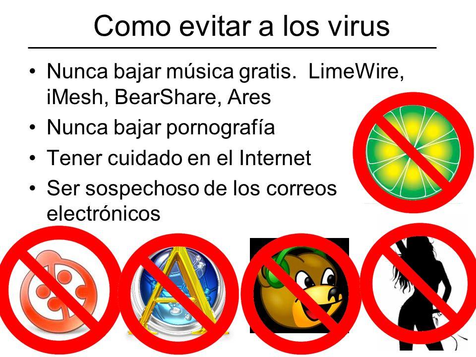 Como evitar a los virus Nunca bajar música gratis.