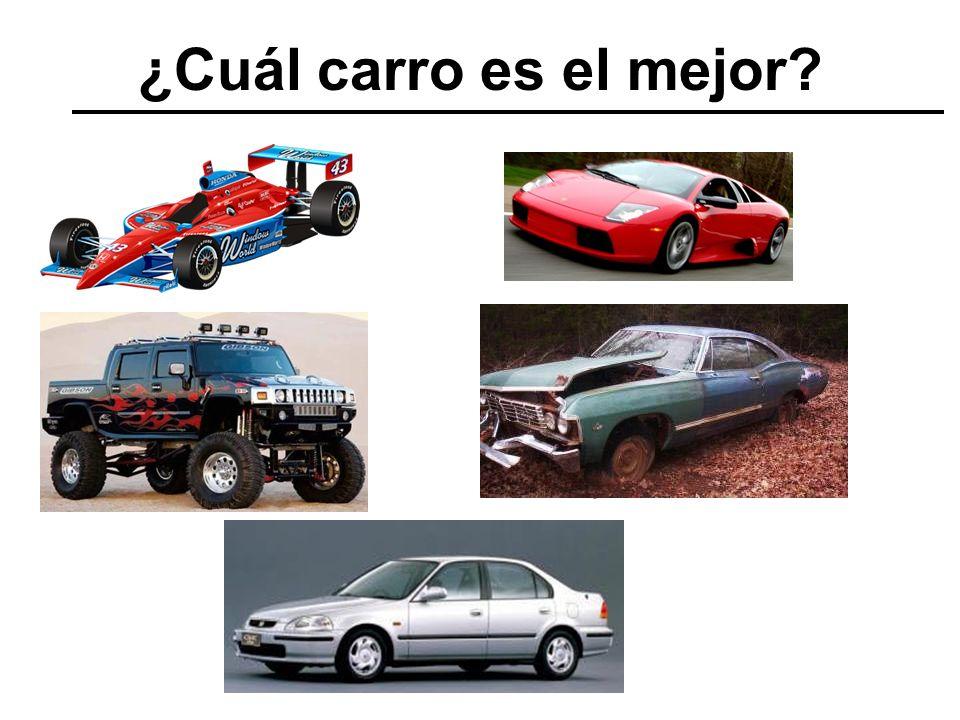 ¿Cuál carro es el mejor?