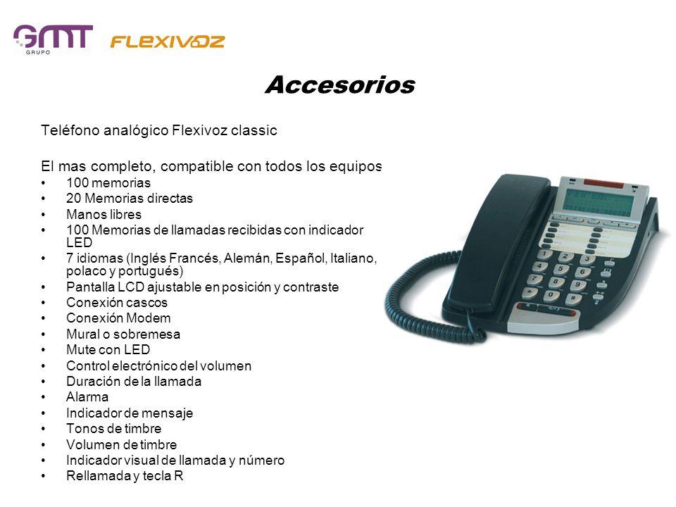 Accesorios Teléfono analógico Flexivoz classic El mas completo, compatible con todos los equipos. 100 memorias 20 Memorias directas Manos libres 100 M
