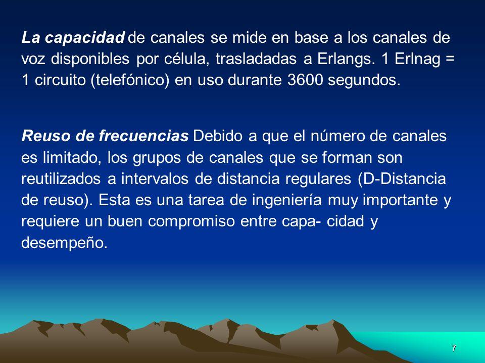 68 Sectoring : Además se reduce el área cubierta por un grupo de canales, disminuyendo la eficiencia del entroncado.