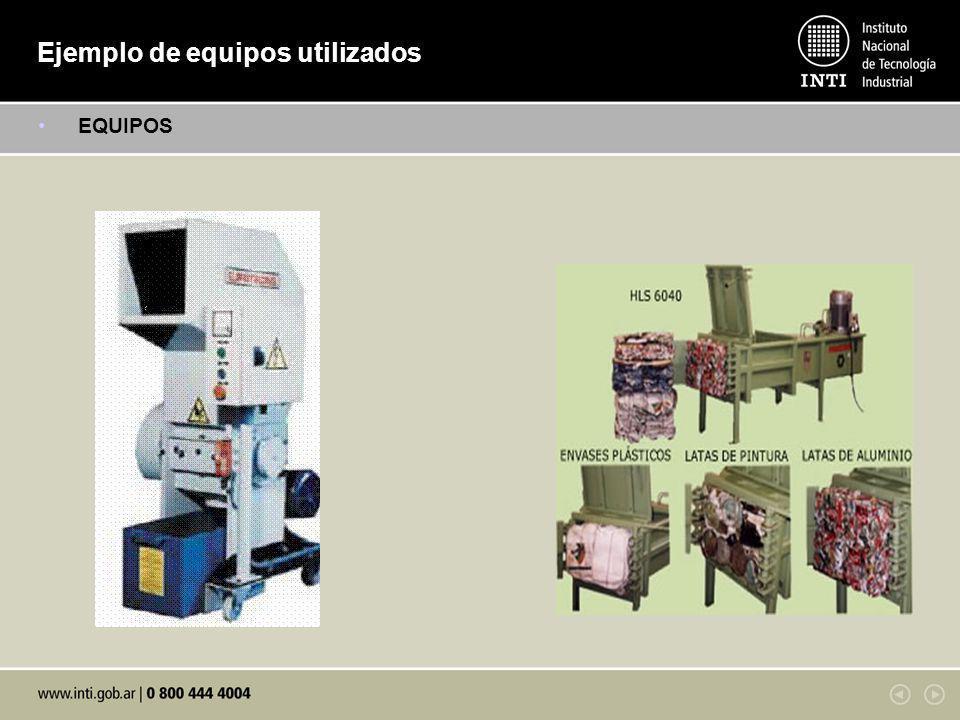 Ejemplo de equipos utilizados EQUIPOS