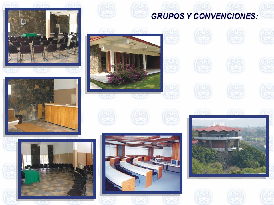 Sala audiovisual en ex convento Auditorio Plaza cívica: Explanada al aire libre Claustro del exconvento Cúpula geodésica Restaurantes y bar