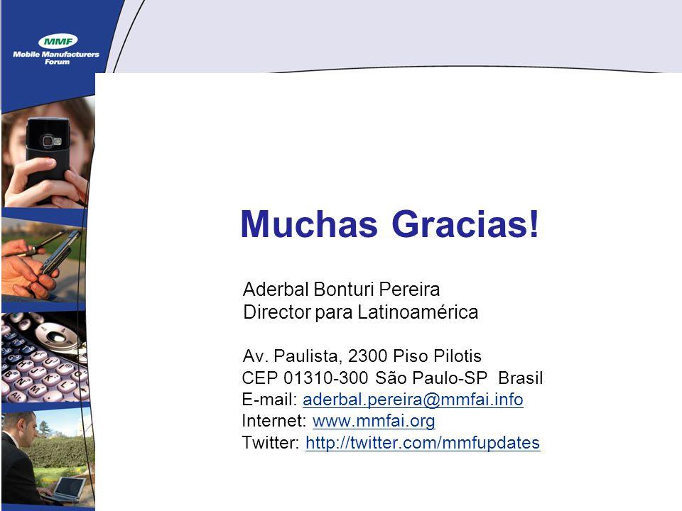 19 Muchas Gracias. Aderbal Bonturi Pereira Director para Latinoamérica Av.