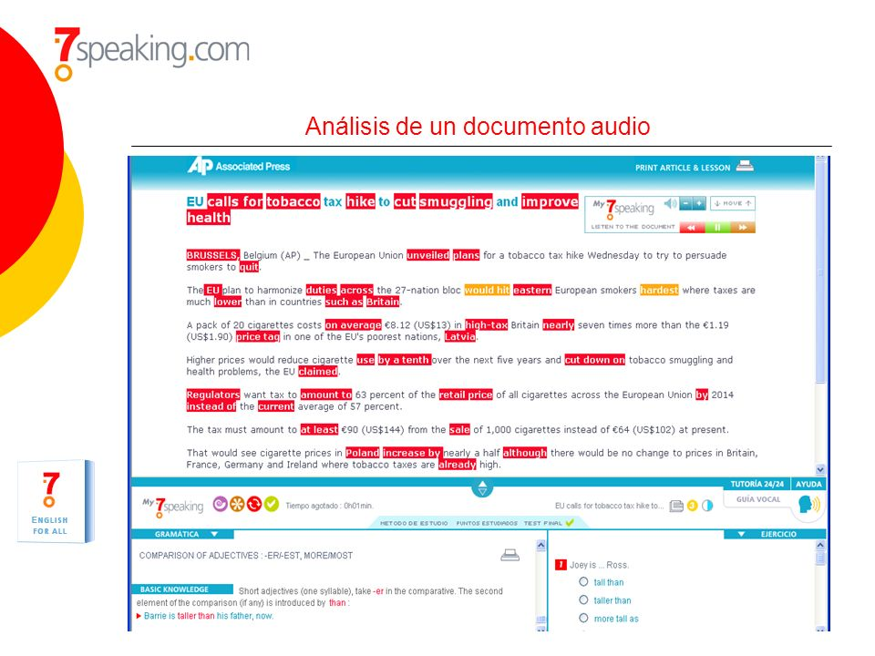 Análisis de un documento audio