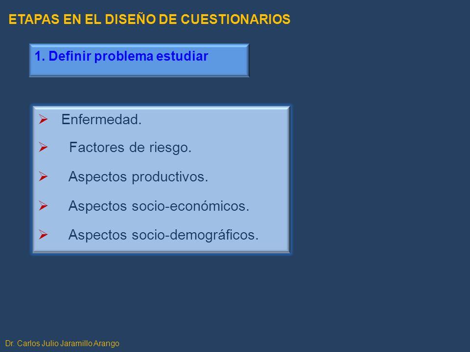 5.Probar el cuestionario OBJETIVOS Identificar errores, ambigüedades, defectos en formato o lenguaje.