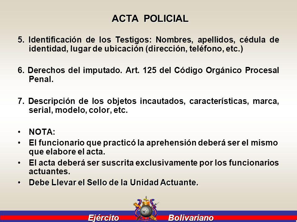 Ejército Bolivariano Ejército Bolivariano El sistema de Justicia Venezolano esta apoyado en el debido proceso que lo recoge el Art.49° CRBV y el Art.
