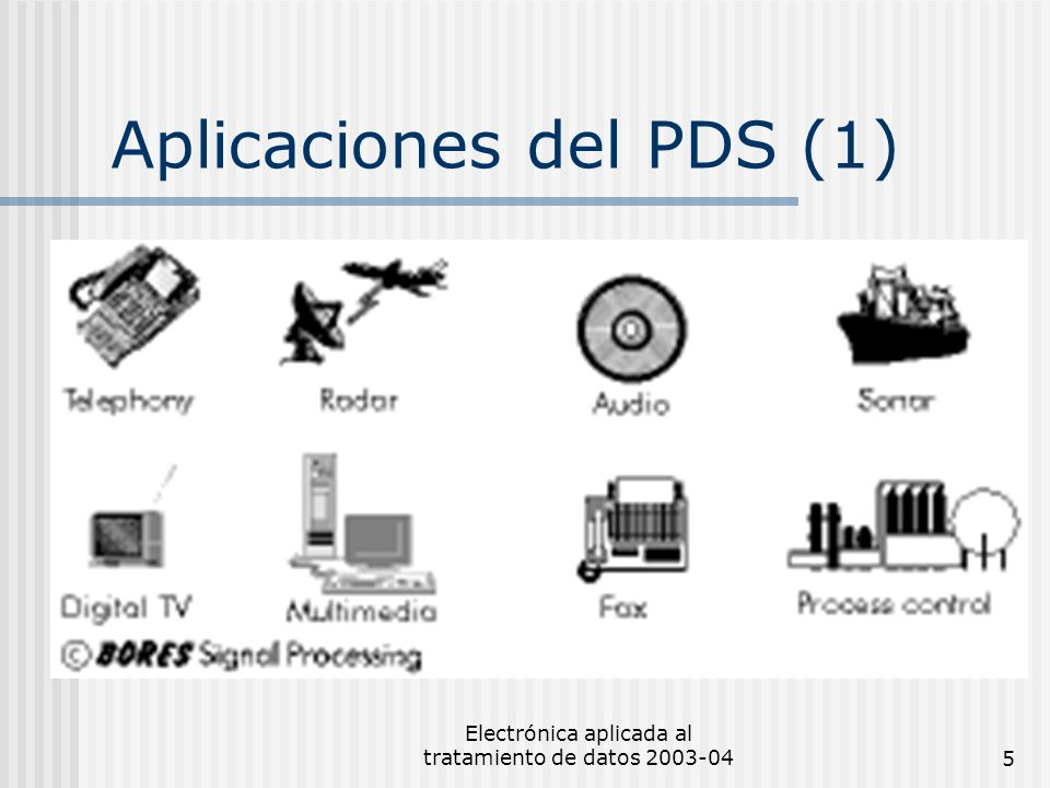 Electrónica aplicada al tratamiento de datos 2003-045 Aplicaciones del PDS (1)