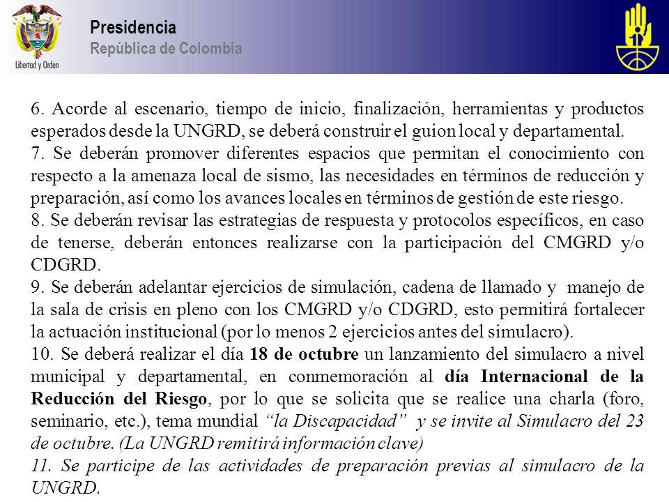 Presidencia República de Colombia 6.