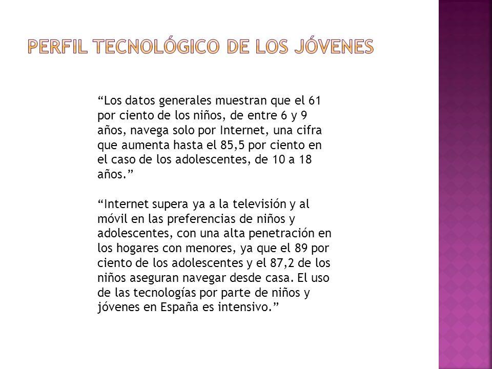 Los datos generales muestran que el 61 por ciento de los niños, de entre 6 y 9 años, navega solo por Internet, una cifra que aumenta hasta el 85,5 por ciento en el caso de los adolescentes, de 10 a 18 años.