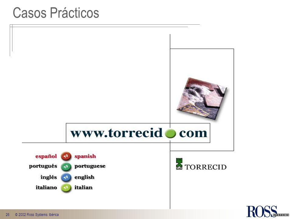 26© 2002 Ross Systems Ibérica Casos Prácticos