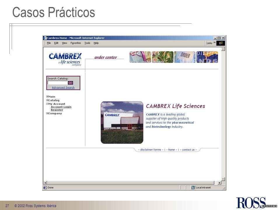 27© 2002 Ross Systems Ibérica Casos Prácticos