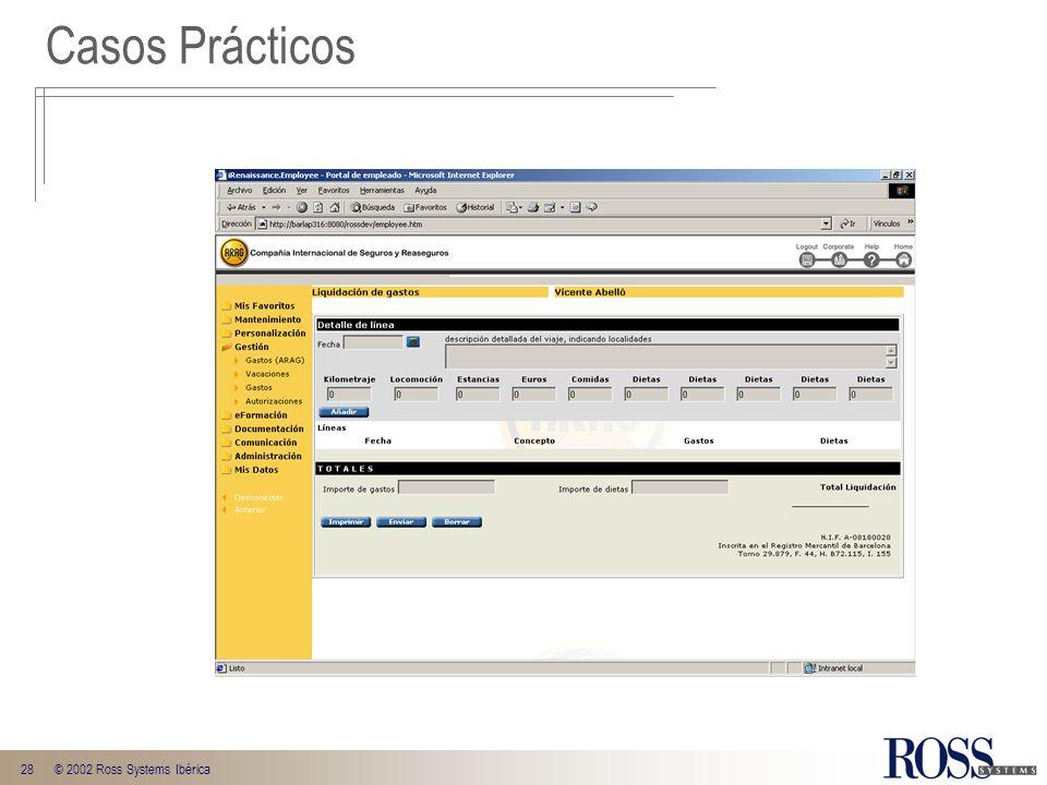 28© 2002 Ross Systems Ibérica Casos Prácticos