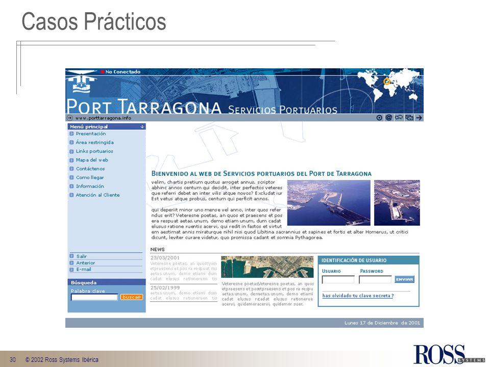 30© 2002 Ross Systems Ibérica Casos Prácticos