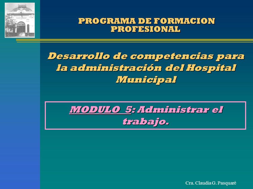 Cra.Claudia G. Pasquaré TIEMPO DE GESTION Impuesto específicamente por el jefe.