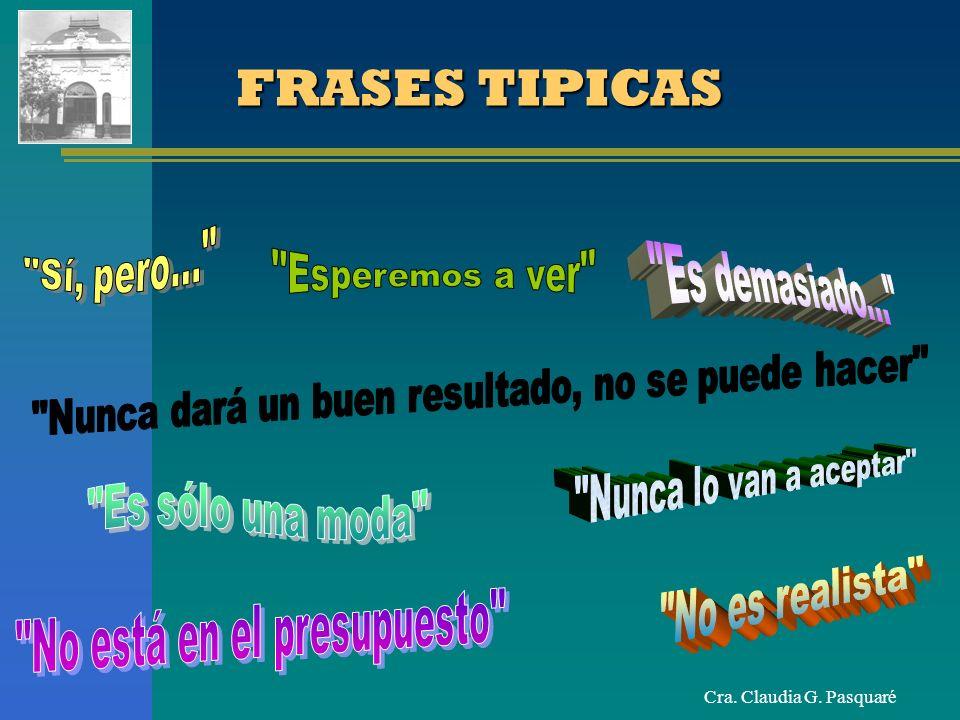 Cra. Claudia G. Pasquaré FRASES TIPICAS
