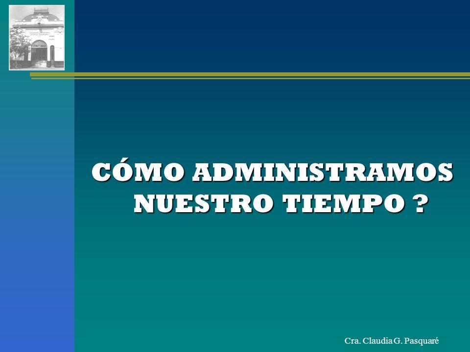 Cra.Claudia G. Pasquaré DESPERDICIADORES LOGISTICOS Desorganización del habitat.