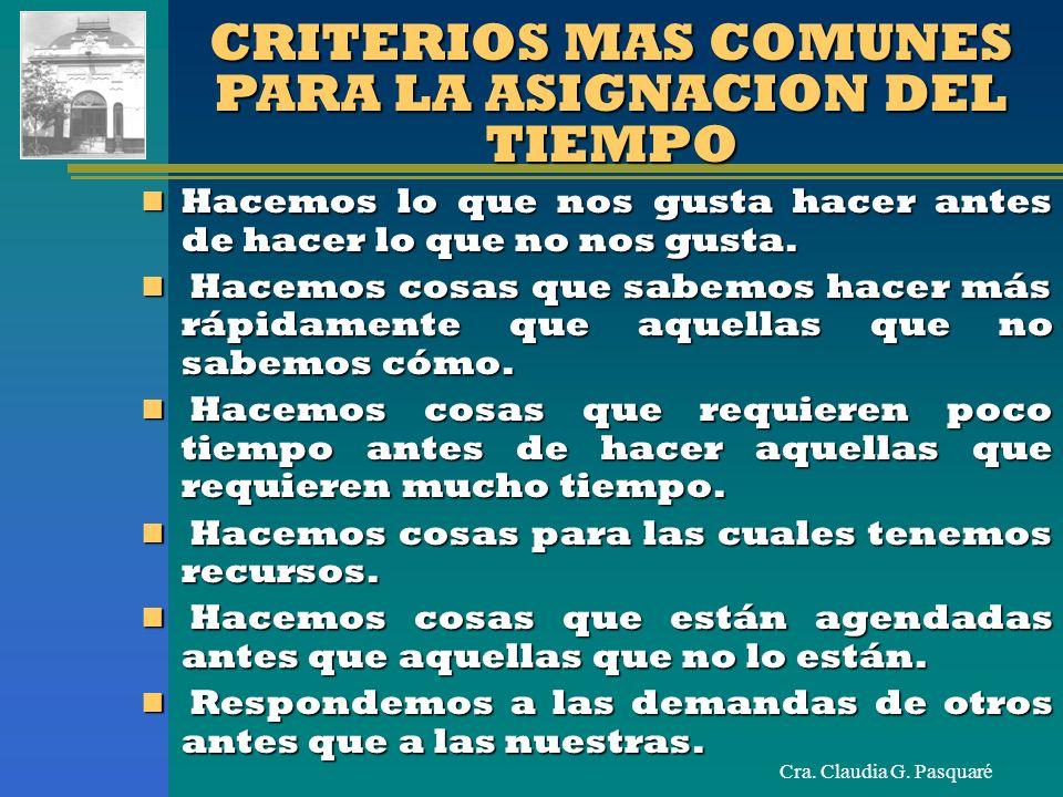 Cra.Claudia G. Pasquaré VIAS DE SOLUCION ADMINISTRATIVAS ORGANIZACIÓN Concentración.