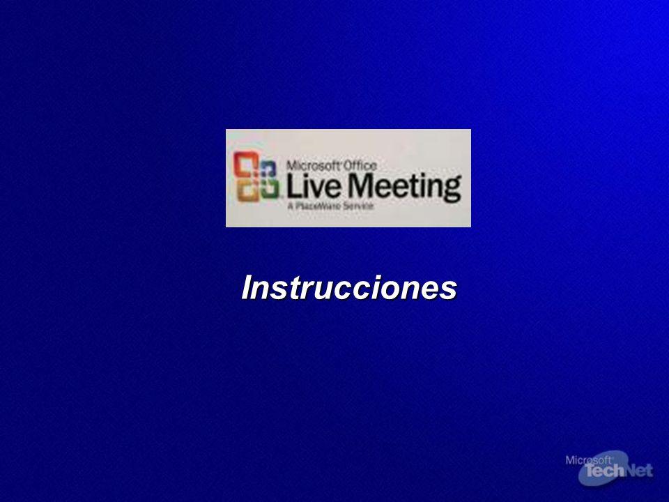 Optimice su vista de Live Meeting Cierre todas las demás aplicaciones que tenga abiertas.
