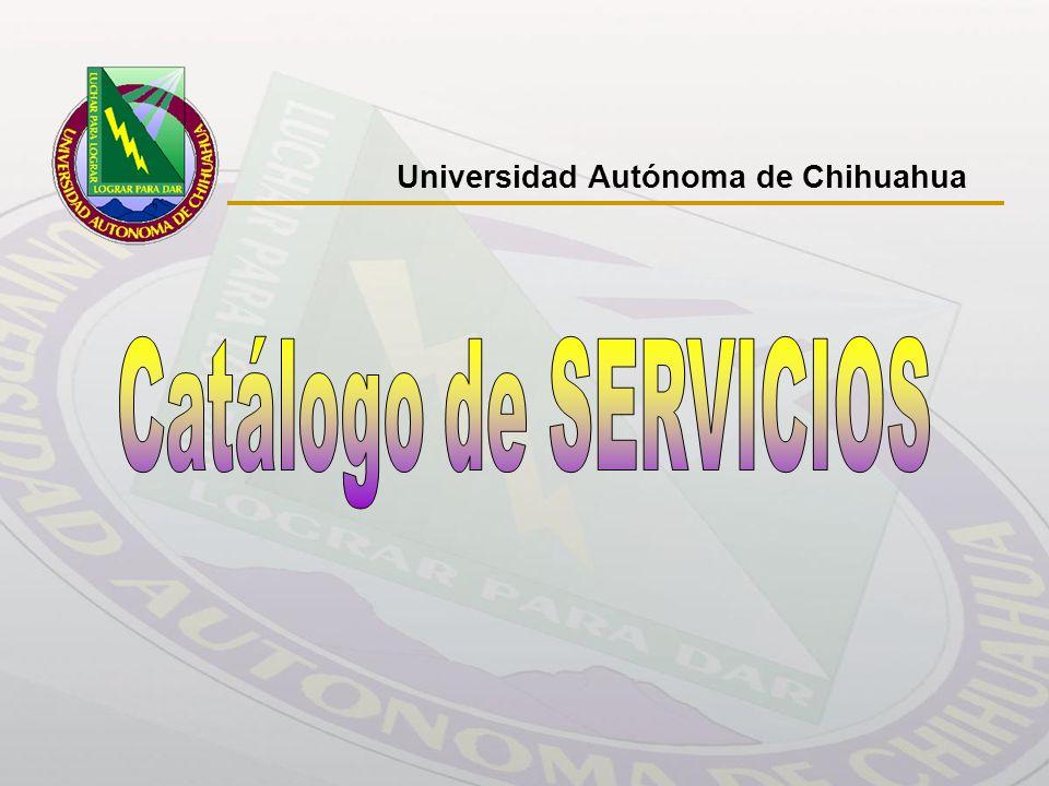 Catálogo de Servicios Universidad Autónoma de Chihuahua CAPACITACIÓN QUE OFRECE EL DEPARTAMENTO TALLERES NOMBRE MÓDULOS DURACIÓN Básico int.