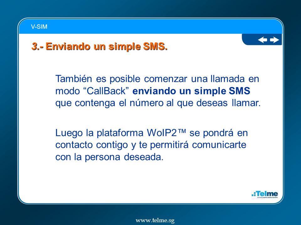 3.- Enviando un simple SMS.