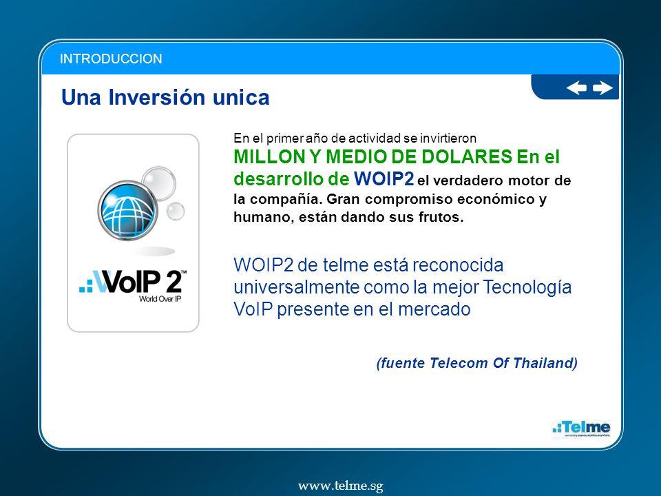 INTRODUCCION En el primer año de actividad se invirtieron MILLON Y MEDIO DE DOLARES En el desarrollo de WOIP2 el verdadero motor de la compañía.
