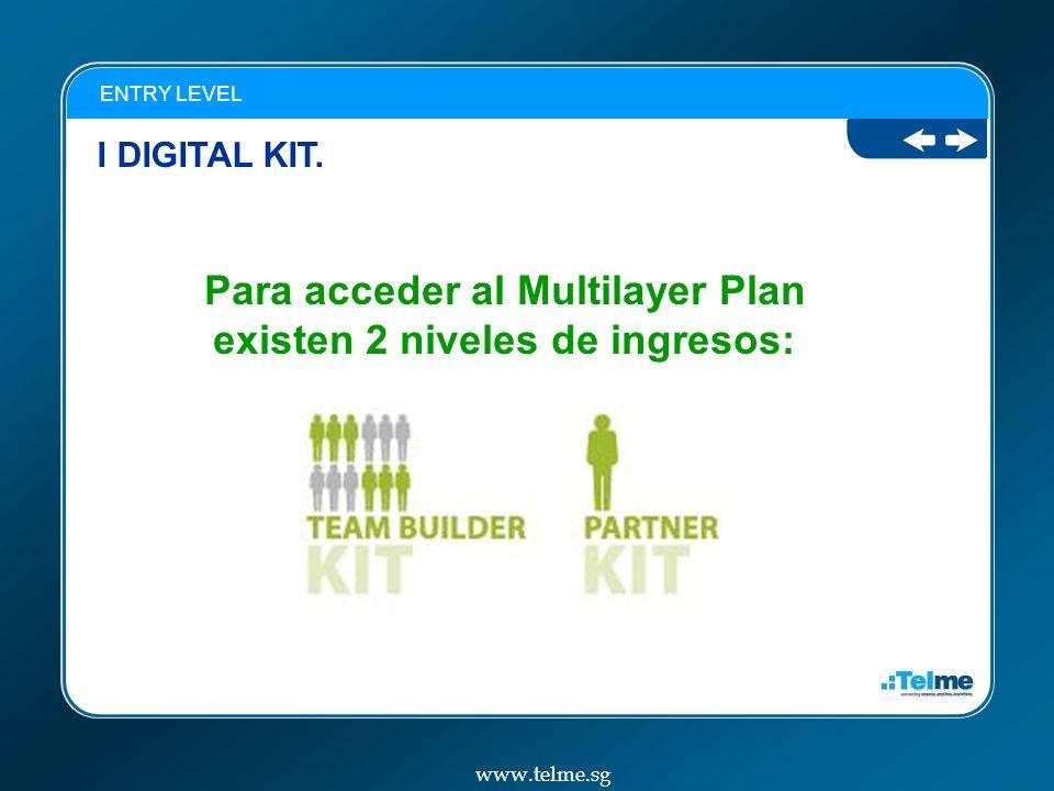 Para acceder al Multilayer Plan existen 2 niveles de ingresos: I DIGITAL KIT.