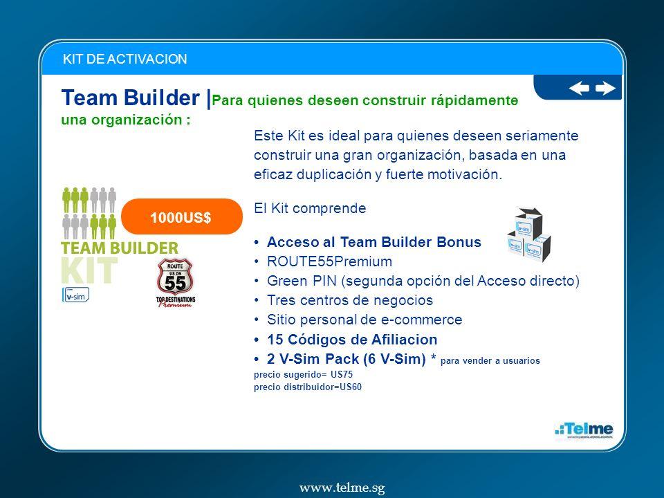 Team Builder | Para quienes deseen construir rápidamente una organización : KIT DE ACTIVACION Este Kit es ideal para quienes deseen seriamente construir una gran organización, basada en una eficaz duplicación y fuerte motivación.