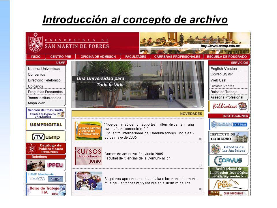 Introducción al concepto de archivo