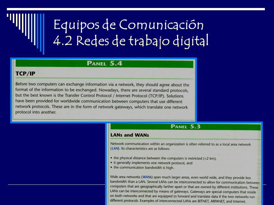 Equipos de Comunicación 4.2 Redes de trabajo digital