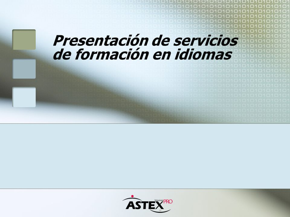 Presentación de servicios de formación en idiomas