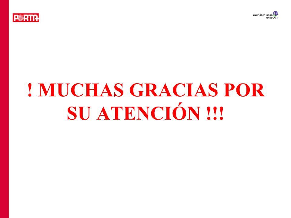 ! MUCHAS GRACIAS POR SU ATENCIÓN !!!