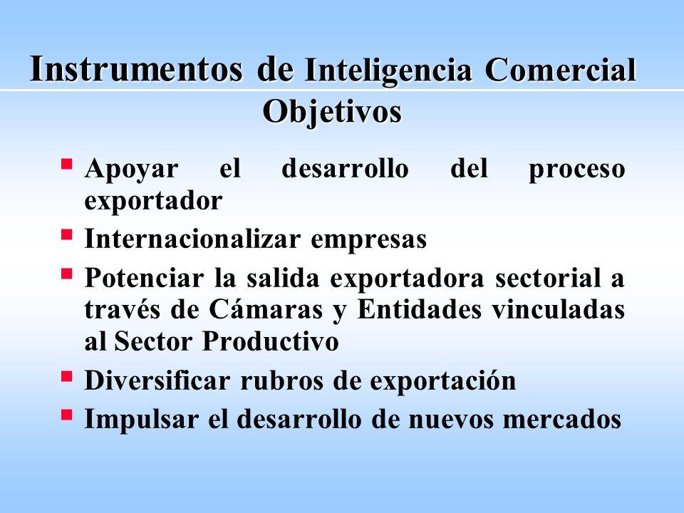 Programa Integrado de Promoción Comercial, Inversiones y Desarrollo de Mercados Externos Subsecretaría de Comercio Internacional (SURCI) Dirección de Promoción de Exportaciones (DIPEX)