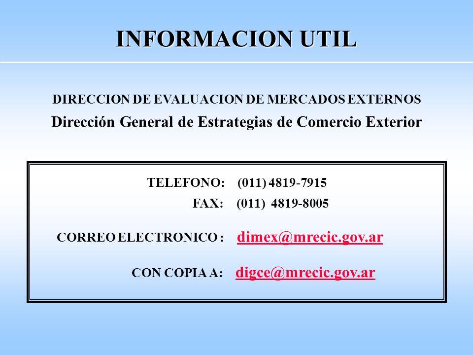 Portal Argentina Trade Net (www.argentinatradenet.gov.ar) Subsecretaría de Comercio Internacional (SURCI) Dirección de Información Comercial (DINCO)