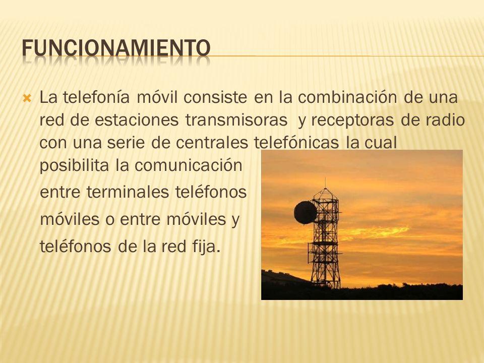 La telefonía móvil consiste en la combinación de una red de estaciones transmisoras y receptoras de radio con una serie de centrales telefónicas la cu