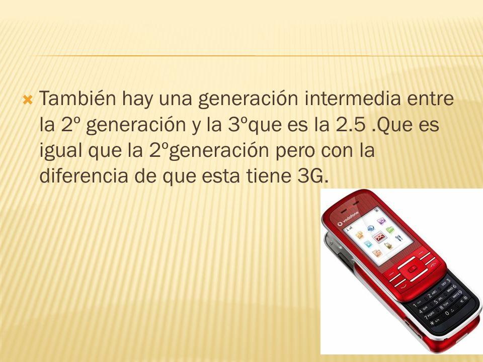 También hay una generación intermedia entre la 2º generación y la 3ºque es la 2.5.Que es igual que la 2ºgeneración pero con la diferencia de que esta