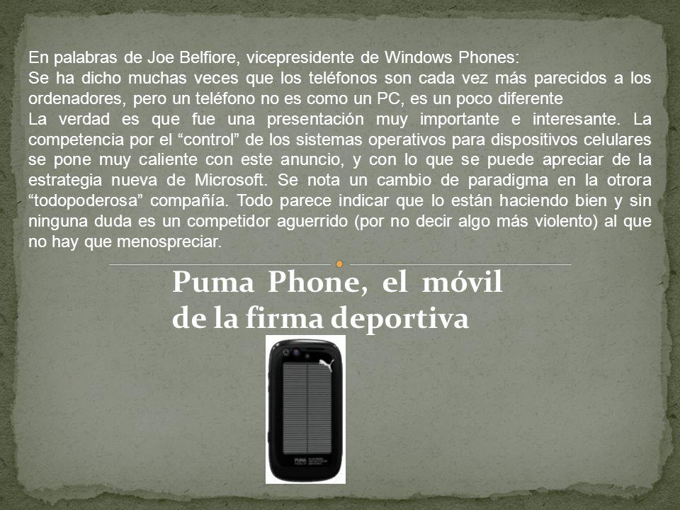 En palabras de Joe Belfiore, vicepresidente de Windows Phones: Se ha dicho muchas veces que los teléfonos son cada vez más parecidos a los ordenadores, pero un teléfono no es como un PC, es un poco diferente La verdad es que fue una presentación muy importante e interesante.