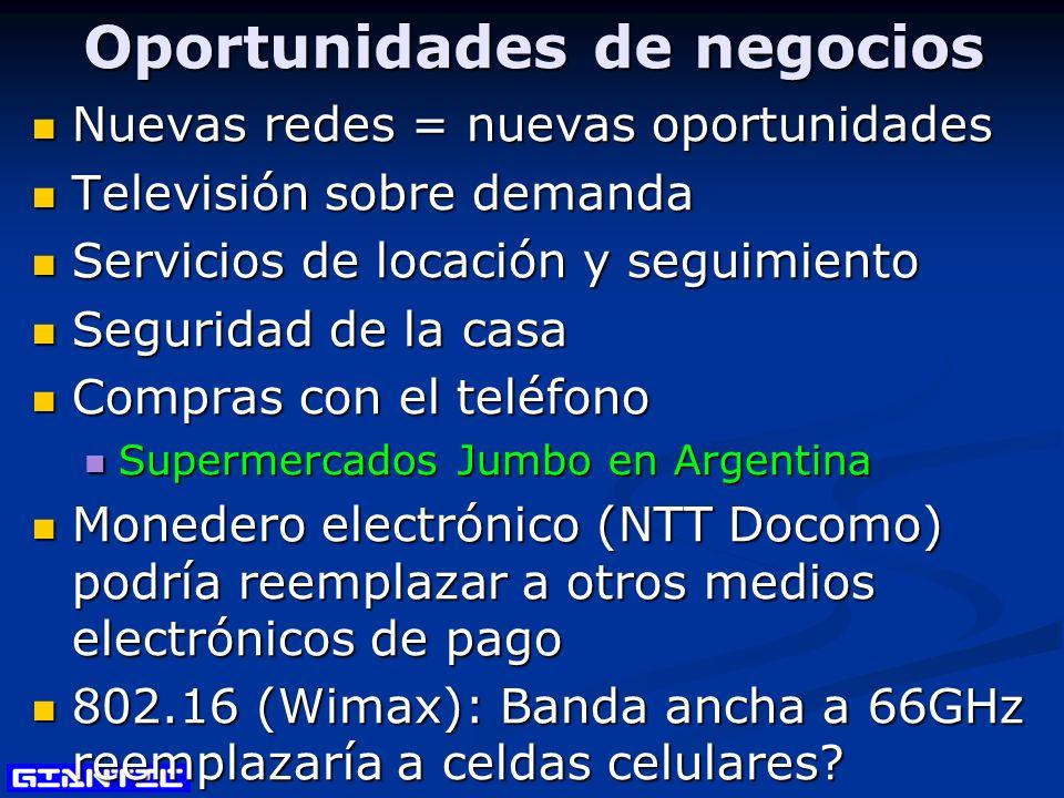 Oportunidades de negocios Nuevas redes = nuevas oportunidades Nuevas redes = nuevas oportunidades Televisión sobre demanda Televisión sobre demanda Se