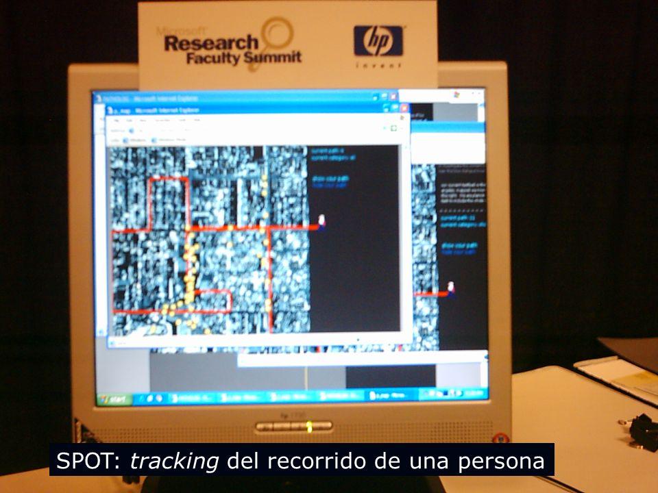 SPOT: tracking del recorrido de una persona