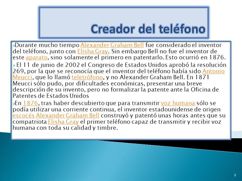 Durante mucho tiempo Alexander Graham Bell fue considerado el inventor del teléfono, junto con Elisha Gray. Sin embargo Bell no fue el inventor de est