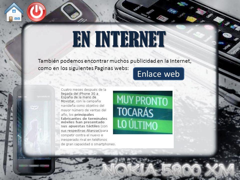 EN INTERNET También podemos encontrar muchos publicidad en la Internet, como en los siguientes Paginas webs: Enlace web